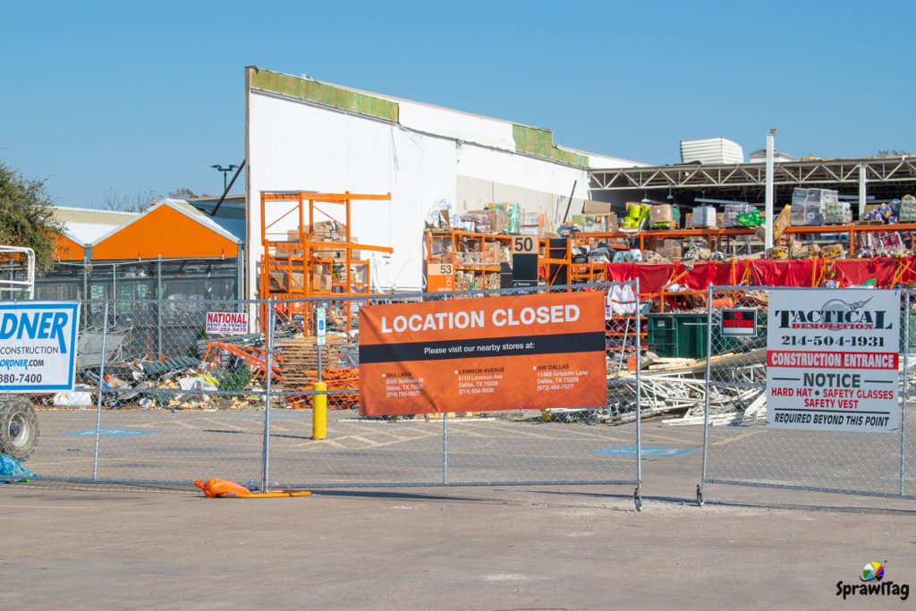 Tornado Damaged Home Depot in Dallas Texas.