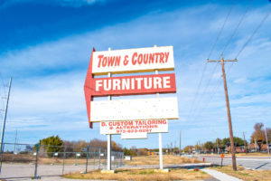 Town and country furniture store