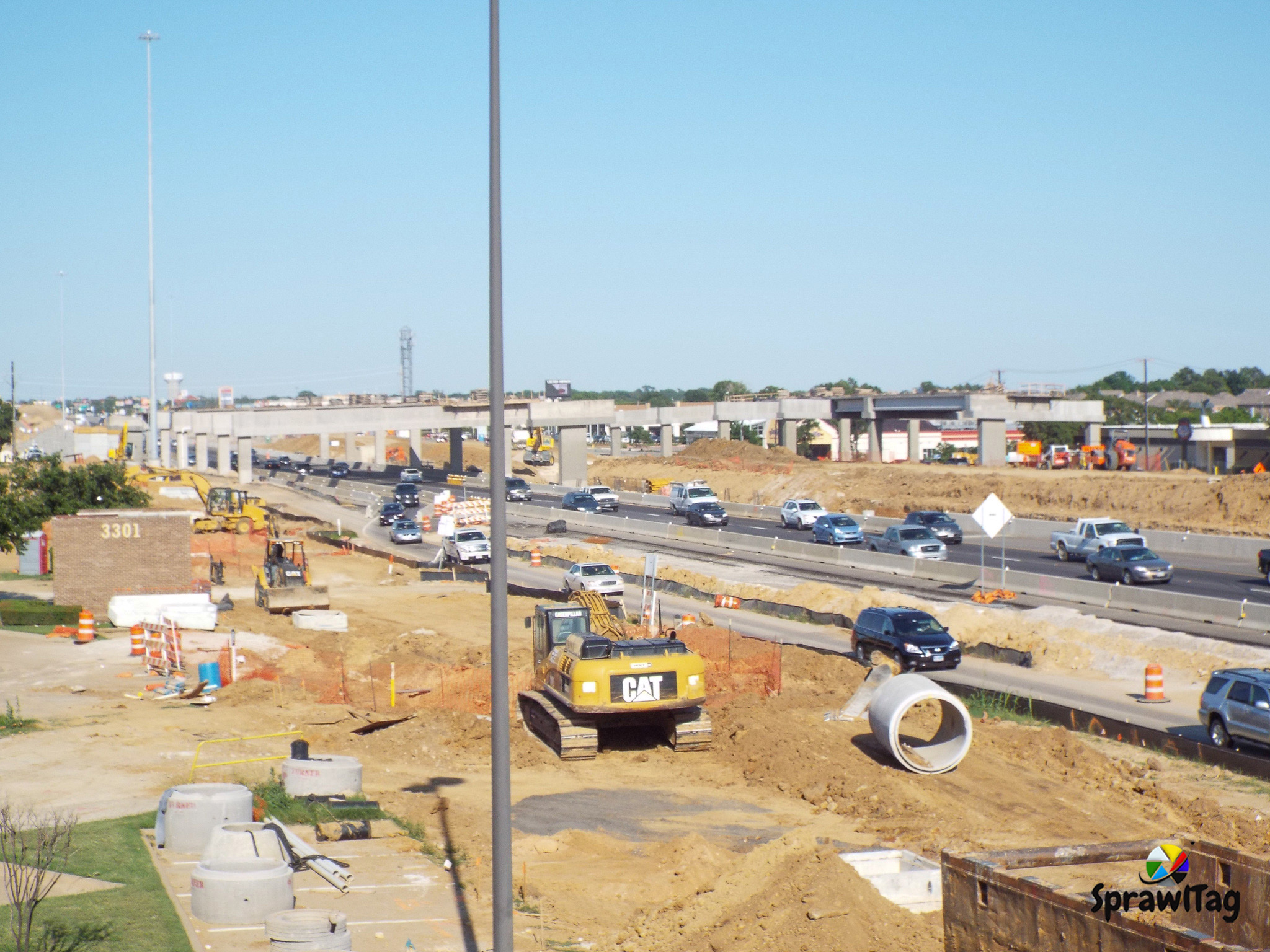 Texas State Highway 183 Expansion In Euless Texas