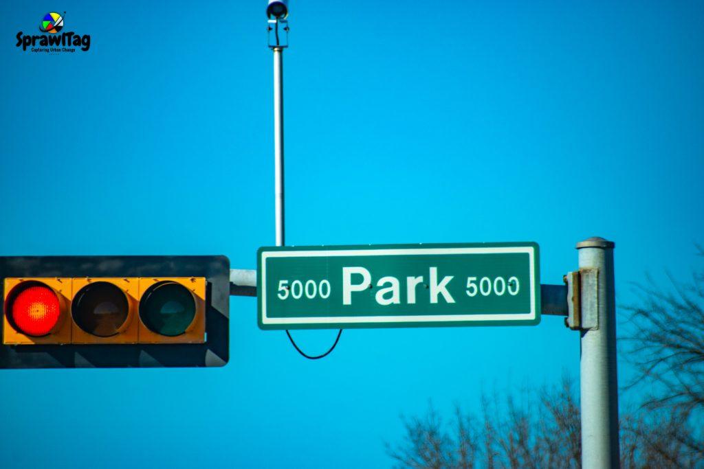 Park Blvd sign Plano